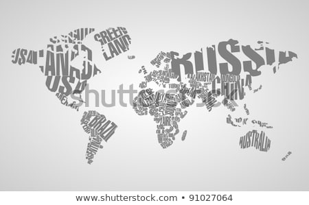 typographic world map vector stock photo © beaubelle