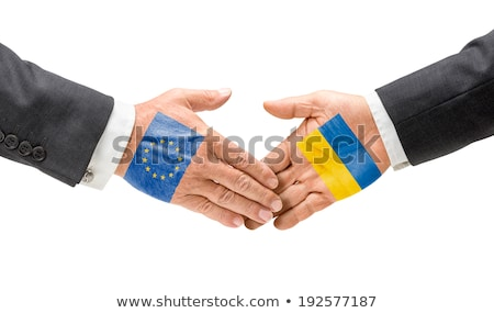 bandeira · Ucrânia · fundo · azul · cor · oriental - foto stock © zerbor