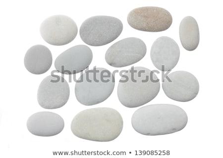 Zen taşlar yalıtılmış beyaz vücut arka plan Stok fotoğraf © natika