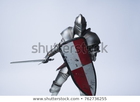 Medieval knight with sword and shield Stock photo © Nejron