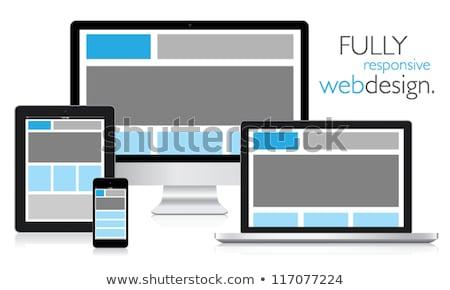sensible · diseno · web · aislamiento · vector · ordenador - foto stock © mpfphotography