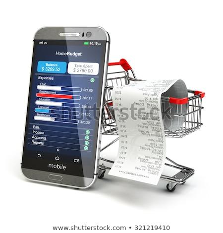 Graphe d'affaires mobiles bancaires financière croissance Photo stock © designers