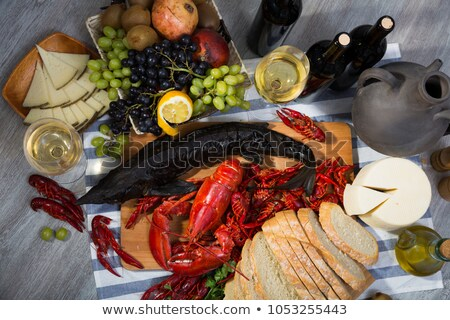 Smoked fish with boiled crayfish Stock photo © Makse
