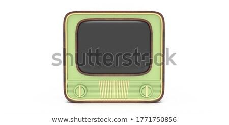 Television Advertising. Pastels Vintage Design Concept. Stock photo © tashatuvango