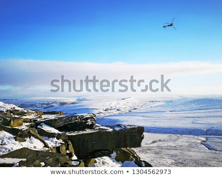 borda · ocidente · yorkshire · céu · nuvens · estrada - foto stock © chris2766