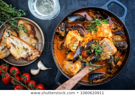 balık · güveç · akşam · yemeği · öğle · yemeği · çorba · patates - stok fotoğraf © neillangan