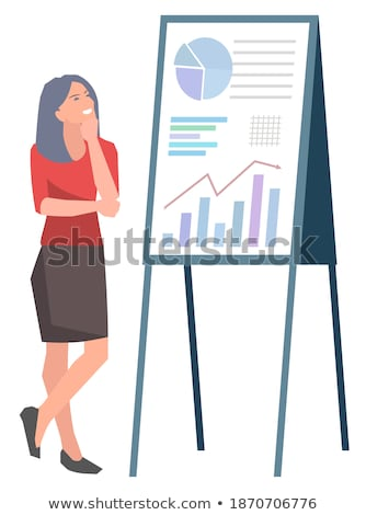 financial plan on red billboard stock photo © tashatuvango