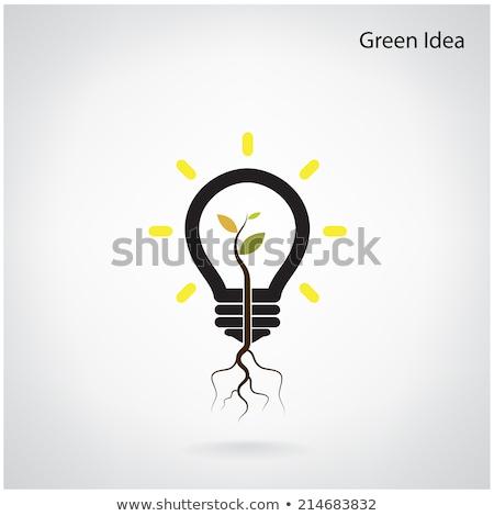 Yeşil girişim ağaç fikir büyümek ampul Stok fotoğraf © chatchai_stocker
