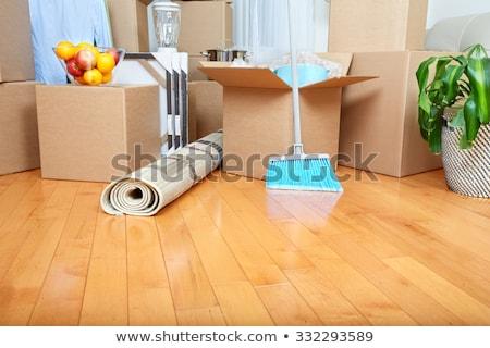Hareketli ipotek kanepe karton kutuları yeni ev Stok fotoğraf © HASLOO