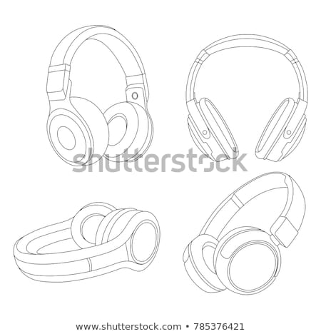 dj headphones vector illustration stock photo © mr_vector