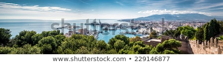 panorama of malaga seaport spain stock photo © amok