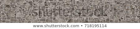 ruw · stenen · muur · venster · een · kant · glas - stockfoto © kimmit