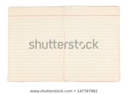 Stock fotó: Nyitva · barna · notebook · toll · felső · kilátás