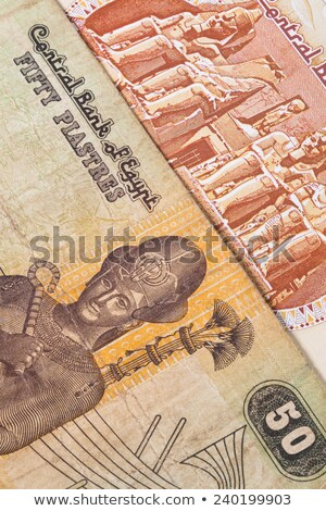 Different Egyptian  banknotes on the table Stock photo © CaptureLight