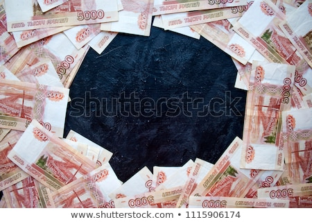Five thousand rubles on a black background Stock photo © Valeriy