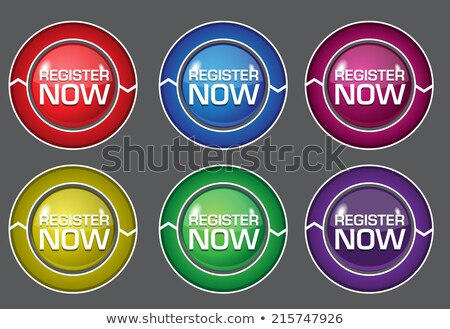 Register Now Green Circular Vector Button stock photo © rizwanali3d