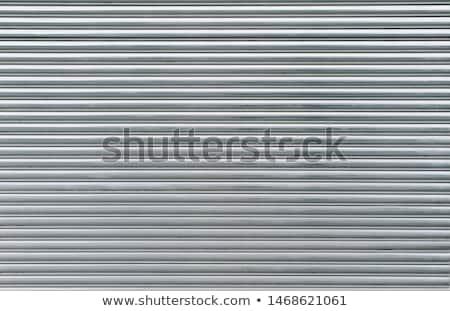 eski · çelik · rulo · panjur · kilitlemek · mavi - stok fotoğraf © Lio22