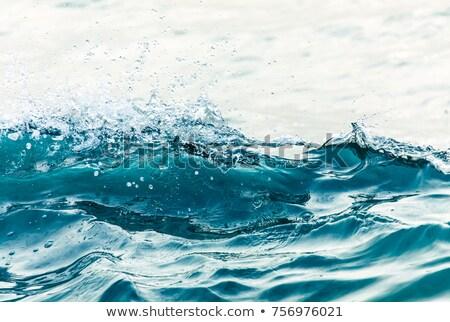 ola · grande · playa · California · EUA · agua - foto stock © ozaiachin