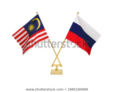 ロシア マレーシア ミニチュア フラグ 孤立した 白 ストックフォト © tashatuvango