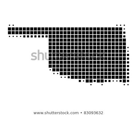 Térkép USA Oklahoma pont minta vektor Stock fotó © Istanbul2009