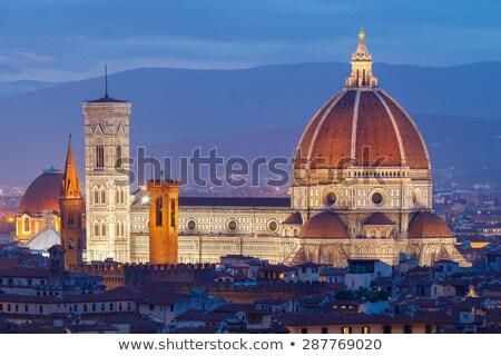 Florence katedrális éjszaka épület utazás fekete Stock fotó © LianeM