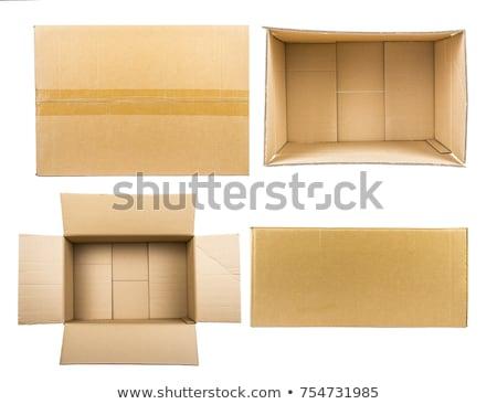 braun · unterschiedlich · Karton · Boxen · weiß - stock foto © ozaiachin