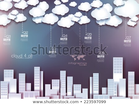 Infographic Layout for infocharts, item classification Stock photo © DavidArts