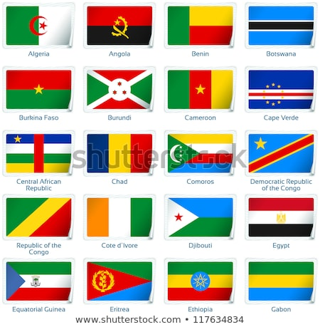 Сток-фото: Буркина- · флаг · Мир · флагами · коллекция · аннотация