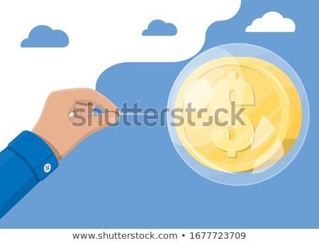 экономический · пузыря · домой · банка · рынке · финансовых - Сток-фото © lightsource