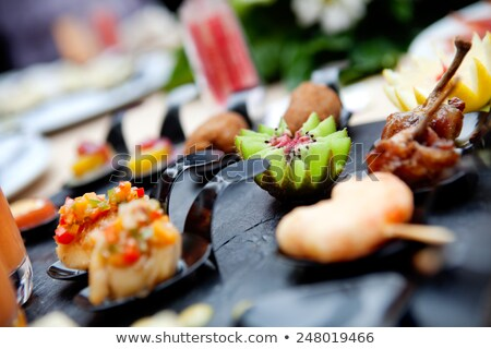 Service catering outdoors. Modern food and snack Stock photo © Ainat