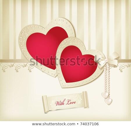 Stock photo: Wedding Invitation Border Elegant Satin