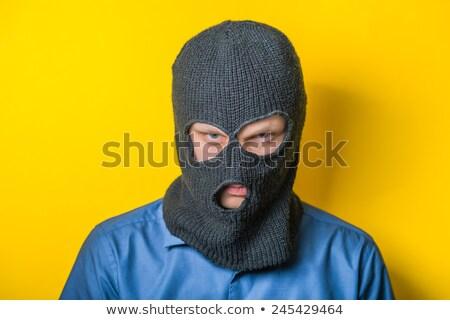Porträt Einbrecher tragen Maske schwarz männlich Stock foto © wavebreak_media