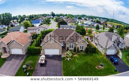 güç · kutup · çatı · tel · mavi · gökyüzü · ev - stok fotoğraf © h2o