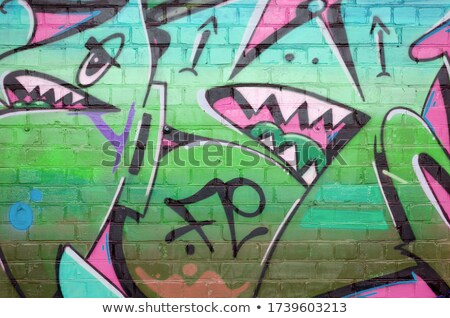 Illegal word painting on wall Stock photo © fuzzbones0