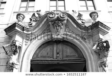 старые · двери · красивой · украшение · древесины - Сток-фото © master1305