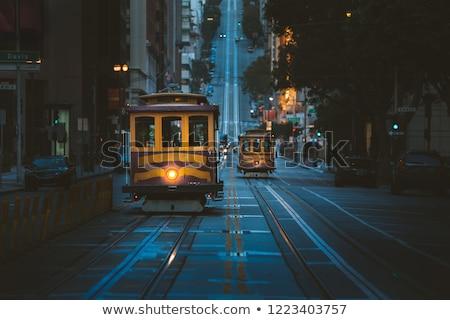 cable car tracks at night stock photo © pixelsaway