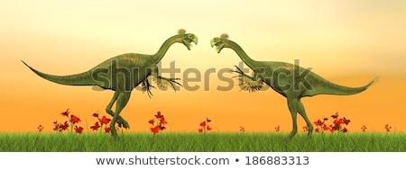 Doua dinozaur 3d face lac digital monstru Imagine de stoc © mariephoto