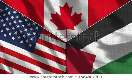 Canada and Palestine Flags Stock photo © Istanbul2009