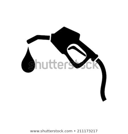 Stock fotó: Benzinkút · pumpa · fúvóka · kék · ég · kék · energia