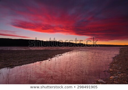gün · batımı · güzel · bulutlar · çevirmek · kırmızı - stok fotoğraf © lovleah