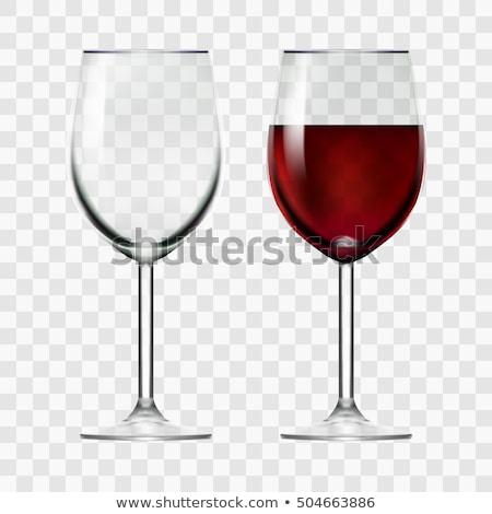 ストックフォト: 空っぽ · ワイングラス · 孤立した · 白 · ワイン · ガラス