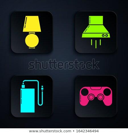 Siyah kontrol konsol mavi arka ışık gelişme Stok fotoğraf © tashatuvango