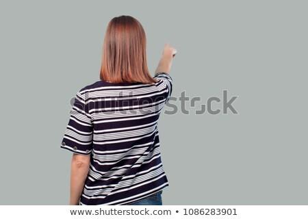 Giovani bella marinaio donna punta inoltrare Foto d'archivio © Aikon