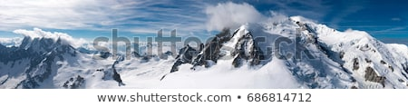 panoramic view on rocks with snow stock photo © bsani