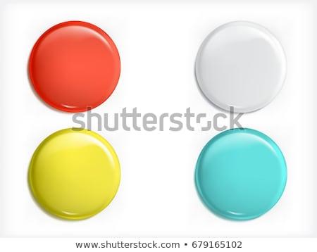 Mágnes kék vektor ikon gomb háló Stock fotó © rizwanali3d