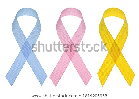 Cancer awareness ribbon set clipping path  Stock photo © cienpies