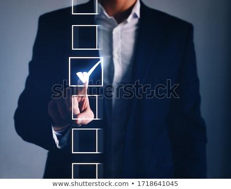 Mi férfi kérdez tart oldal fej Stock fotó © ozgur