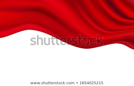 dancing with red fabric stock photo © fisher