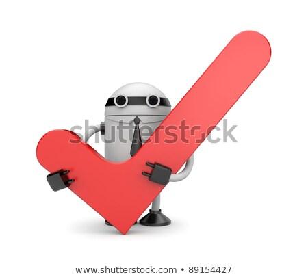 andróide · construtor · chave · inglesa · tornar · trabalhar · robô - foto stock © kirill_m