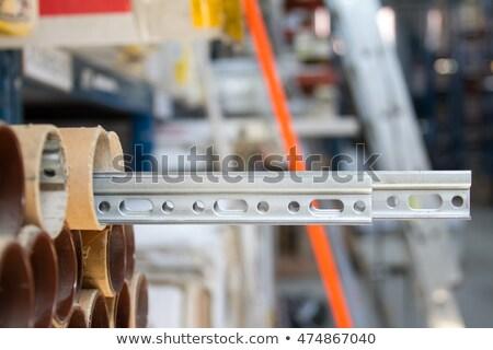 Alumínium profil izolált fehér építkezés bár Stock fotó © homydesign